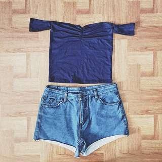 Heart Top (NAVY BLUE)