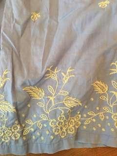 維多利亞的秘密天藍色刺繡家居褲