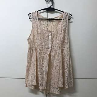 Cream White Lace Forever 21 Top