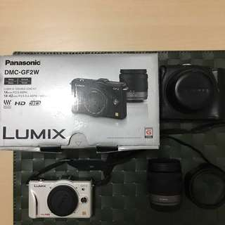 🚚 PANASONIC國際牌松下電器LUMIX DMC-GF2W女朋友2號數位類單眼相機雙鏡組(14mm+14-42mm)