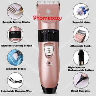 (BNIB) SMITH CHU Professional Saloon Quality Rechargeable Ceramic Hair Clipper / Cutter / Trimmer for Adult / Baby / Children / Pets (Brand New Boxed)