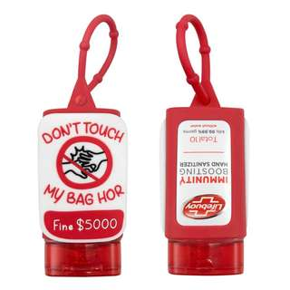 "LIMITED NDP EDITION Lifebuoy ""DON'T TAKE MY BAG HOR"" Hanger Hand Sanitizer 50ml"