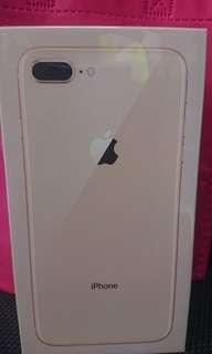 iPhone 8 plus 64gb gold (new)