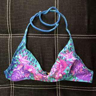 Elle Blue Floral Bikini Top