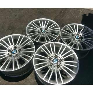 17吋 BMW 原廠F系列拆車鋁圈 8J 5/120 ET30 真圓精美一組價 配胎合購再優惠