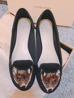 🚚 法國Chocolate Schubar 狐狸平底鞋 樂福鞋