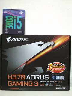 i5 8500 6Core (4.10GHz) Processor with Gigabyte Aorus H370 Gaming 3 Motherboard