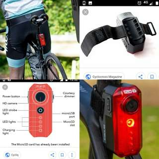 Cycliq Fly 6 (v) Integrated camera and rear light.