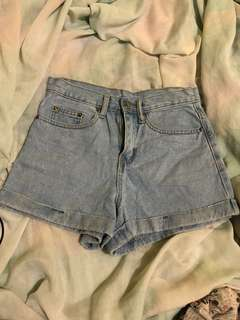 F2 high rise shorts size 24