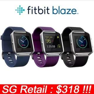[Brand New] FITBIT BLAZE WIRELESS ACTIVITY TRACKER WITH HEART RATE MONITOR