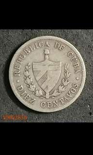1000285 - 古巴罕有銀幣1920牟