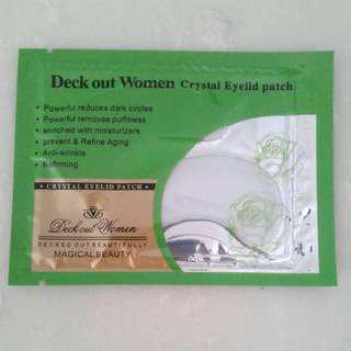 Deck Out Women Crystal Eyelid Patch Mask