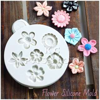 💐 FLOWERS SILICONE MOLD TOOL for Pastry • Chocolate • Fondant • Gum Paste • Candy Melts • Jelly • Gummies • Agar Agar • Ice • Resin • Polymer Clay Craft Art • Candle Wax • Soap Mold • Chalk • Crayon Mould •