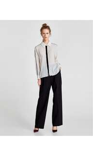 BNWT Zara Blouse with velvet trims