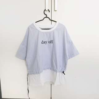 This Is April 'Day Off' Oversized Top