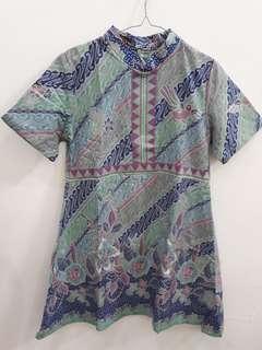 Jual Rugi Dress Batik Formal - blm pernah dipakai
