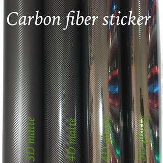 Carbon fiber sticker