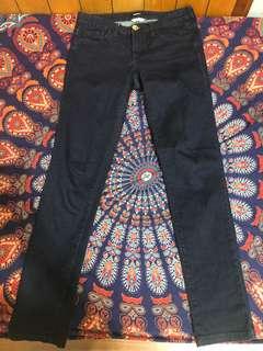 🚚 深藍色貼身低腰牛仔褲
