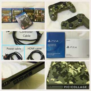 For sale PS4 limited edition, 5.50 sysytem software upgradable to higher firmware