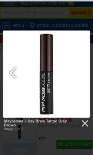 Maybelline Tattoo Brow Peel Off Gel Tint