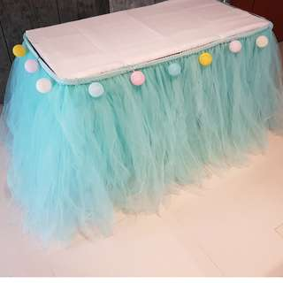 Dessert / Candy Table Props Rental_Table Tutu Skirting_Tiffany Color