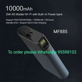 Xiaomi 小米 ZMI 4G WiFi Router Power bank Mobile Hotspot