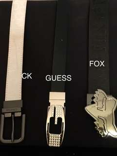 CK, FOX and Guess Belts