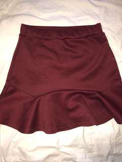 Pretty little thing maroon skirt