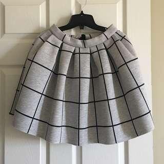 TopShop skirt cute grey checked