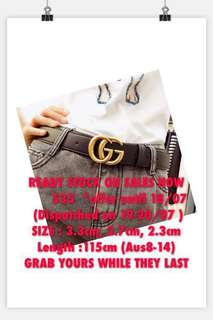 ON SALES GUCCI BELTS 2.7/3.3cm x 115cm READY STOCK