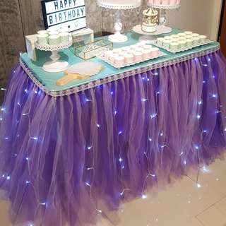 Dessert / Candy Table Props Rental_Table Tutu Skirting_Purple Color