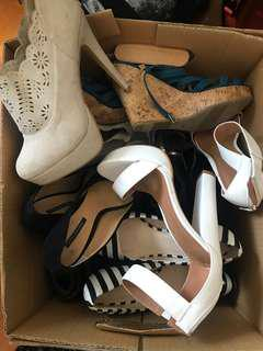 HIGHEST OFFER - Box of shoes!!!!!