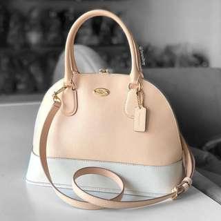 Authentic Coach Crossgrain Cora Domed Satchel Handbag F34491