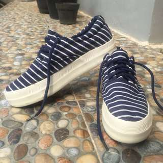 blue strips sneakers #maudecay