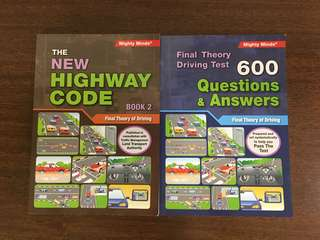 New Highway Code Book Two & Final Theory Test Q&A 600 Questions (Latest editions)
