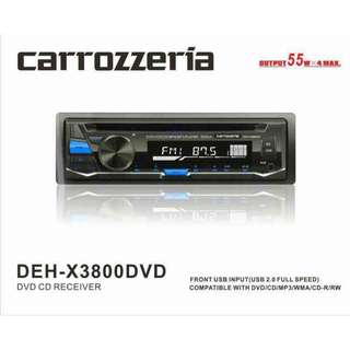 CARROZZERIA (DEH-X3800 DVD) DVD CD RECEIVER