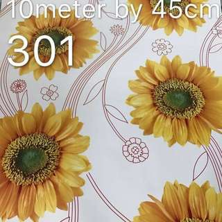 Sunflower Design Wallpaper Self Adhesive