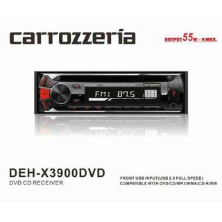 CARROZZERIA (DEH-X3900 DVD) DVD CD RECEIVER