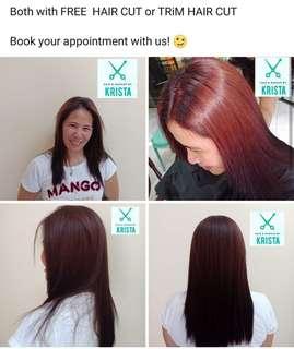 Brazilian Keratin with Hair Colour 👌
