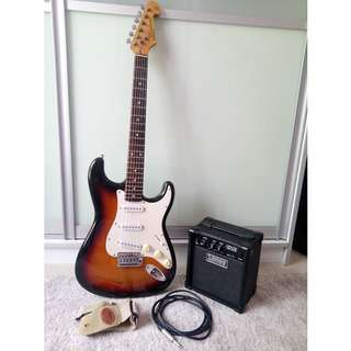 Guitar, Amp, Cable, Strap
