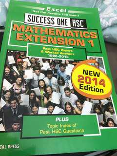Success one maths extension 2014 edition
