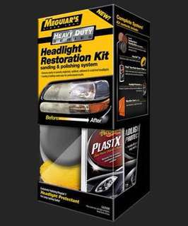 diy 美國牌子車頭燈翻新 Meguiar's Heavy Duty Headlight Restoration Kit