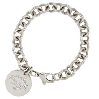 Tiffany & Co Round Tag Silver Bracelet - Return To Tiffany Collection