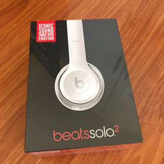 Beats Solo 2 White Headphones