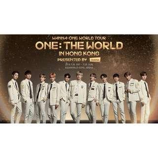 Wanna One 香港演唱會 2018 不記名票 座位580 980