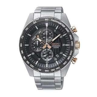 only hk$1140,100% new SEIKO Men Chronograph Sports Watch SSB323P1手錶