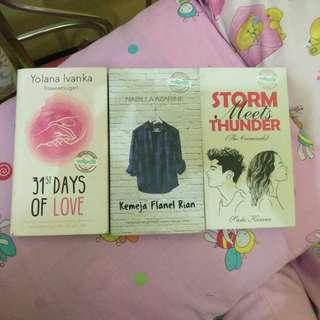 Novel Teenfict : Kemeja Flanel Rian, 31st Days of Love, & Storm meets Thunder