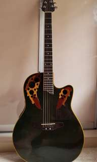 OVATION  APPLAUSE SEMI-ELECTRIC ACOUSTIC GUITAR  WITH TIGER EYES                                                                                           (HAS DEEP INTONATION SOUND)