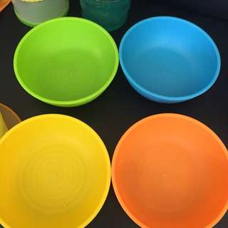 Take all munchkin bowls, milk dispenser & spoons (sippy cup not inc)