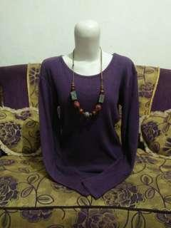 Atasan knit ungu